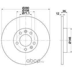 Тормозной диск (Mintex) MDC1688