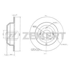 Тормозной диск (Zekkert) BS5442