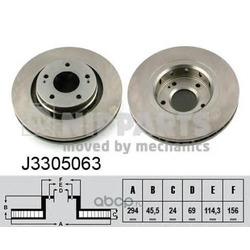 Тормозной диск (Nipparts) J3305063