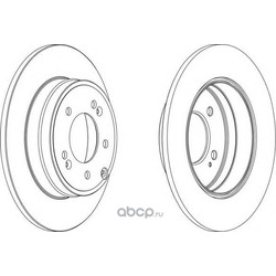 Тормозной диск (Ferodo) DDF1787