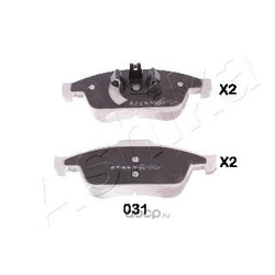 Комплект тормозных колодок (Ashika) 5000031