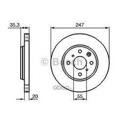 Диск тормозной, передний (Bosch) 0986479239