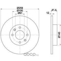 Тормозной диск (Mintex) MDC2087