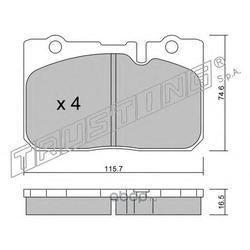 Комплект тормозных колодок, дисковый тормоз (Trusting) 7730