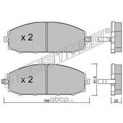 Комплект тормозных колодок, дисковый тормоз (Trusting) 4220