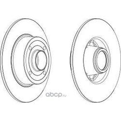 Тормозной диск (WAGNER) WGR13691
