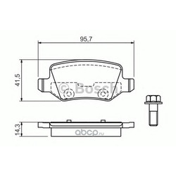 Комплект тормозных колодок, дисковый тормоз (Bosch) 0986494023