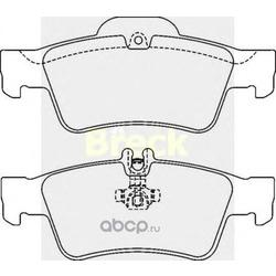 Комплект тормозных колодок, дисковый тормоз (BRECK) 233340070220