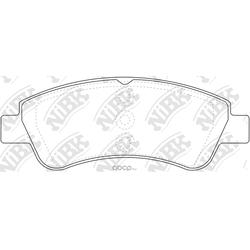 Колодки тормозные дисковые (NiBK) PN0364