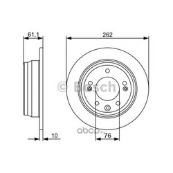 Тормозной диск (Bosch) 0986479508