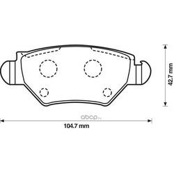 Комплект тормозных колодок, дисковый тормоз (Jurid) 573010J