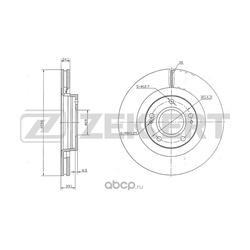 Тормозной диск (Zekkert) BS5327
