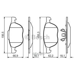 Комплект тормозных колодок, дисковый тормоз (Bosch) 0986495215