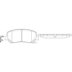 Колодки тормозные дисковые (FIT) FP1623