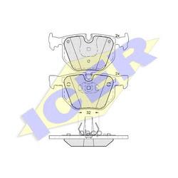 Колодки тормозные дисковые, комплект (Icer) 181685