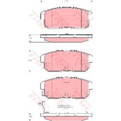 Колодки тормозные задние (TRW/Lucas) GDB3357