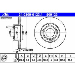 Тормозной диск (Ate) 24030901231