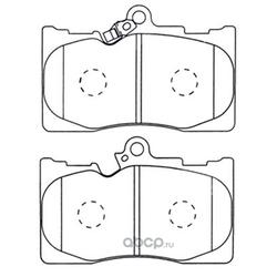 Колодки тормозные дисковые (FIT) FP1118