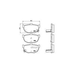 Комплект тормозных колодок, дисковый тормоз (Brembo) P30003