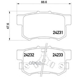 Колодки тормозные дисковые TEXTAR (Textar) 2423101