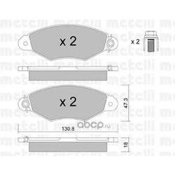Комплект тормозных колодок, дисковый тормоз (Metelli) 2202530