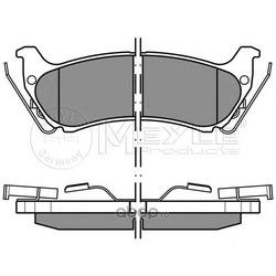 Комплект тормозных колодок, дисковый тормоз (Meyle) 0252319017W