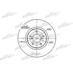Диск тормозной передний (PATRON) PBD1437