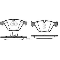 Комплект тормозных колодок, дисковый тормоз (Remsa) 085730