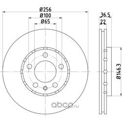 Тормозной диск (Hella) 8DD355105361