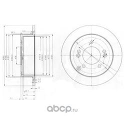 Тормозной диск (Delphi) BG3799