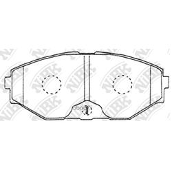 Колодки тормозные дисковые (NiBK) PN2261