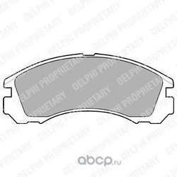 Комплект тормозных колодок, дисковый тормоз (Delphi) LP871