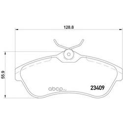 Комплект тормозных колодок, дисковый тормоз (Mintex) MDB2254