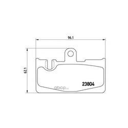 Комплект тормозных колодок, дисковый тормоз (Brembo) P83059