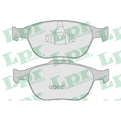 Комплект тормозных колодок, дисковый тормоз (Lpr) 05P906