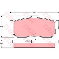 Колодки тормозные задние (TRW/Lucas) GDB1172