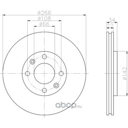 Тормозной диск (Hella) 8DD355108351