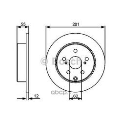 Тормозной диск (Bosch) 0986479419