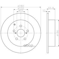 Тормозной диск (Hella) 8DD355111671