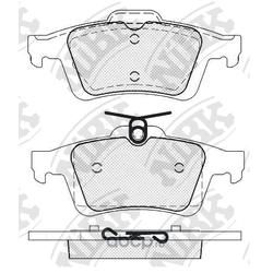 Колодки тормозные дисковые (NiBK) PN2702