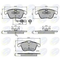Комплект тормозных колодок, дисковый тормоз (Comline) CBP11591