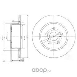 Тормозной диск (Delphi) BG3922