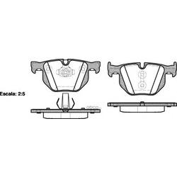 Комплект тормозных колодок, дисковый тормоз (Remsa) 038161