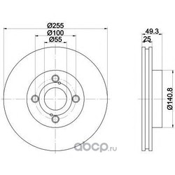 Диск тормозной TEXTAR (Textar) 92125903