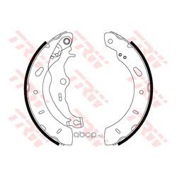 Комплект тормозных колодок (TRW/Lucas) GS8806