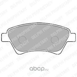 Комплект тормозных колодок, дисковый тормоз (Delphi) LP1730