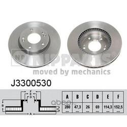 Тормозной диск (Nipparts) J3300530