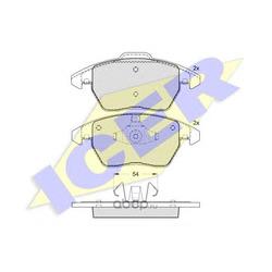 Комплект тормозных колодок, дисковый тормоз (Icer) 181637