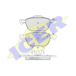 Комплект тормозных колодок, дисковый тормоз (Icer) 181617