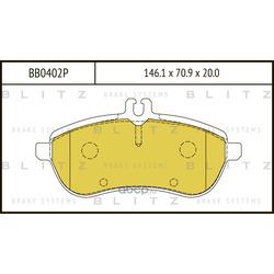 Колодки тормозные дисковые (Blitz) BB0402P